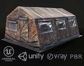 Military tent 3D model game-ready