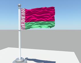 Belarus flag 3D model