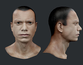 3D asset Male Human Character Head Game Ready 09
