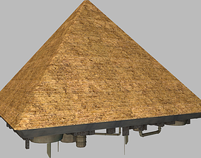 3D model Giza pyramid spaceship