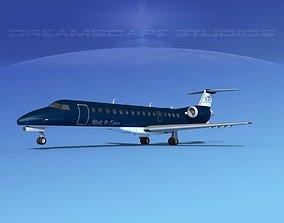 3D model Embraer ERJ-140 Atlantic Air