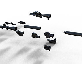 3D Silencer Suppressor Scope 8x 6x Red dot laser All items