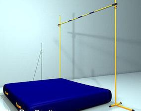 3D model high jump 01