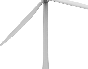 Wind turbine 3D model industrial energy