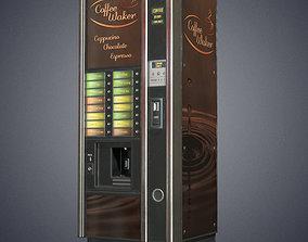 Coffee vending machine 3D model realtime