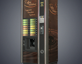 Coffee vending machine 3D model low-poly