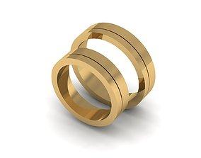 Elegance Wedding Rings 3D printable model