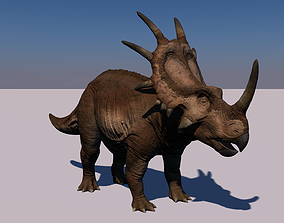 Styracosaurus Dinosaur Animated 3D model lizard