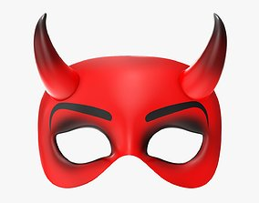 Party mask devil with horns 3D