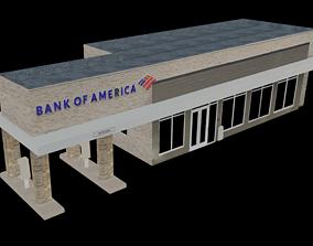 City Building Bank of America 3D asset