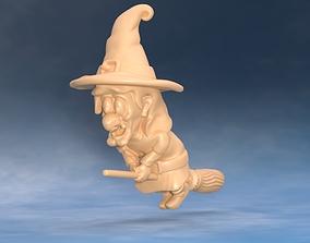 3D printable model Cartoon witch - Hazelnut