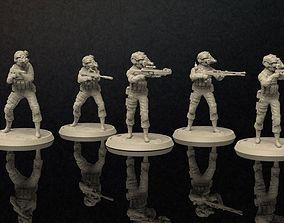 Soldiers Figure Nightvision Helmet Set 3 3D print model