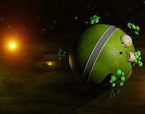 Dragon Ball King Kai Planet animation low poly 3D model 1