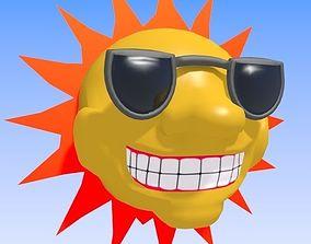 3D Cartoon Style Sun