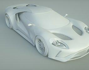 Sport Car Ford GT 3D model