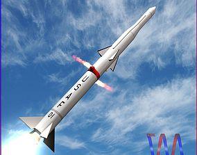 3D Blue Scout Jr Rocket