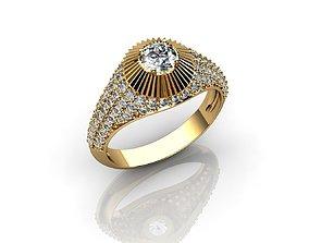 Mens Diamond Gold Rings 3D printable model