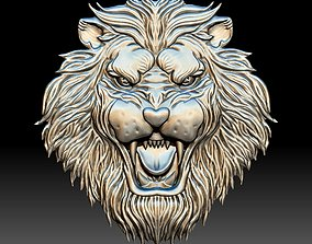 Tiger head STL file 3d model - relief for CNC