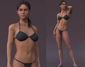 Female Full Body Rig 3D model rigged