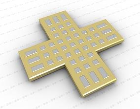 jesus 3D model game-ready Cross