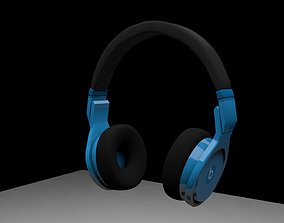 BEATS HEADPHONES FOLDABLE 3D asset rigged