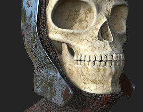 Skull Helmet male 3D model