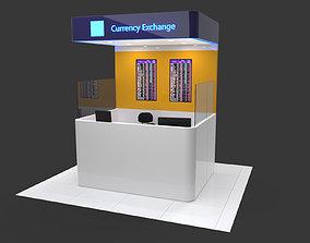 Currency exchange kiosk 3D model