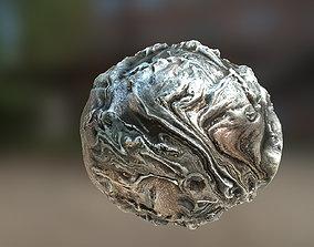 3D asset PBR Material Texture set 034 Alien Silver Metal