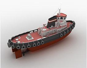 3D model Towboat Tugboat