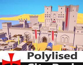 Polylised - Medieval Desert City 3D asset
