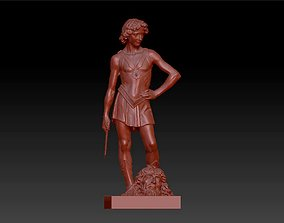 3D print model fighting man figure statue