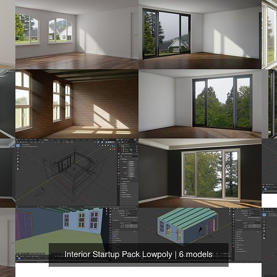Interior Startup Pack Lowpoly 3D Model Collection