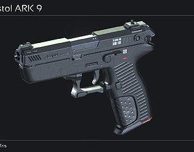 Scifi Pistol ARK 9 3D asset