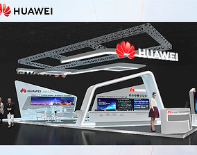 3D model Booth Huawei design size 15 x 6 m 90 sqm