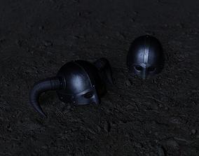 3D model Viking Helmet LowPoly
