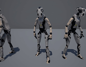 WORKER ROBOT 3D model animated