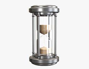 3D model Hourglass sandglass egg sand timer clock 07 v2