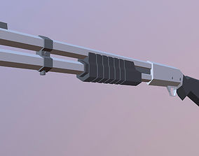 cartoon Shotgun 3D model low-poly