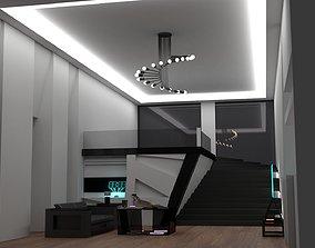 modern interior asset 3D model