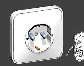 3D asset Power Socket F type Fake