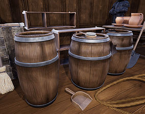 Stylized Medieval Props 3D model