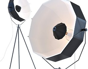 Lamp Hollywood Tripod 3D