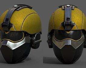 Helmet scifi military combat soldier fantasy 3D model