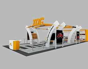 TOC Exhibition 6x15 Booth 3D model