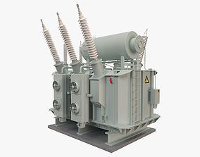 3D model Electrical Transformer 2