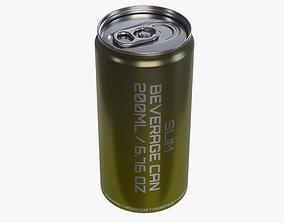 Slim beverage can 200 ml 6-76 oz 3D model