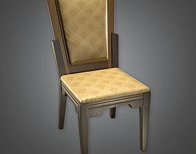 3D asset Designer Chair Art Deco - PBR Game Ready