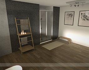 Modern bathroom 1 3D model VR / AR ready
