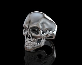 biker 3D printable model Ring Skull