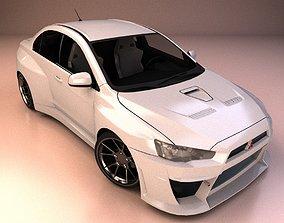 japanese Mitsubishi Lancer Car 3D